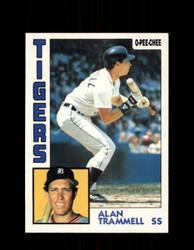 1984 ALAN TRAMMELL OPC #88 O-PEE-CHEE TIGERS *G2257