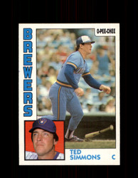 1984 TED SIMMONS OPC #122 O-PEE-CHEE BREWERS *G2284