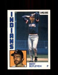 1984 BERT BLYLEVEN OPC #126 O-PEE-CHEE INDIANS *G2288