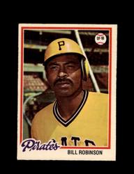 1978 BILL ROBINSON OPC #128 O-PEE-CHEE PIRATES *G2384
