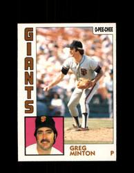 1984 GREG MINTON OPC #205 O-PEE-CHEE GIANTS *G2353