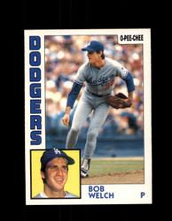 1984 BOB WELCH OPC #227 O-PEE-CHEE DODGERS *G2446