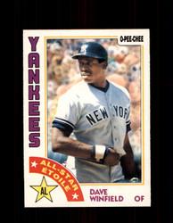 1984 DAVE WINFIELD OPC #266 O-PEE- CHEE YANKEES *G2481