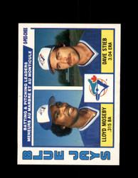 1984 BLUE JAYS LEADERS OPC #289 O-PEE- CHEE MOSEBY/STIEB *G2498
