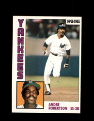 1984 ANDRE ROBERTSON OPC #282 O-PEE- CHEE YANKEES *G2504