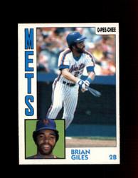 1984 BRIAN GILES OPC #324 O-PEE- CHEE METS *G2509