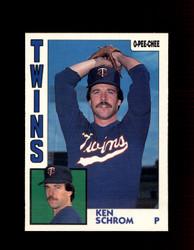 1984 KEN SCHROM OPC #322 O-PEE- CHEE TWINS *G2511