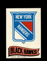 1973 TOPPS EMBLEM RANGERS / BLACK HAWKS *G2551