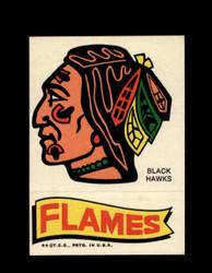 1973 TOPPS EMBLEM BLACK HAWKS / FLAMES *G2556