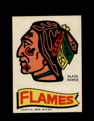 1973 TOPPS EMBLEM BLACK HAWKS / FLAMES *G2557
