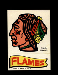 1973 TOPPS EMBLEM BLACK HAWKS / FLAMES *G2558