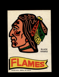 1973 TOPPS EMBLEM BLACK HAWKS / FLAMES *G2559