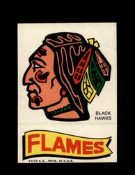 1973 TOPPS EMBLEM BLACK HAWKS / FLAMES *G2560