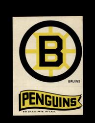 1973 TOPPS EMBLEM BRUINS / PENGUINS *G2571