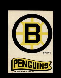 1973 TOPPS EMBLEM BRUINS / PENGUINS *G2572