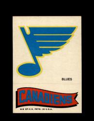 1973 TOPPS EMBLEM BLUES / CANADIENS *G2579