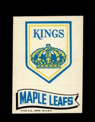 1973 TOPPS EMBLEM KINGS / MAPLE LEAFS *G2583