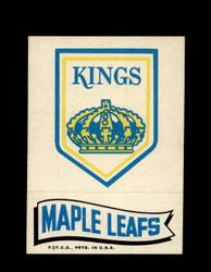 1973 TOPPS EMBLEM KINGS / MAPLE LEAFS *G2584