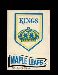 1973 TOPPS EMBLEM KINGS / MAPLE LEAFS *G2588