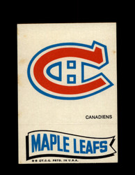 1973 TOPPS EMBLEM CANADIENS / MAPLE LEAFS *G2594