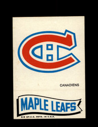 1973 TOPPS EMBLEM CANADIENS / MAPLE LEAFS *G2595