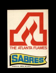1973 TOPPS EMBLEM FLAMES / SABRES *G2598