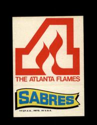 1973 TOPPS EMBLEM FLAMES / SABRES *G2600