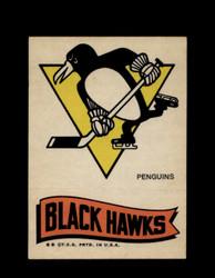 1973 TOPPS EMBLEM PENGUINS / BLACK HAWKS *G2604