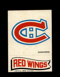 1973 TOPPS EMBLEM CANADIENS / RED WINGS *G2605