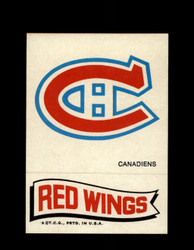 1973 TOPPS EMBLEM CANADIENS / RED WINGS *G2606