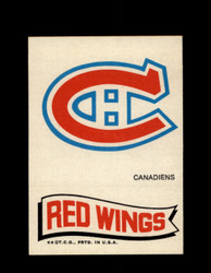 1973 TOPPS EMBLEM CANADIENS / RED WINGS *G2607