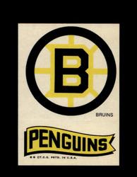 1973 TOPPS EMBLEM BRUINS / PENGUINS *G2608