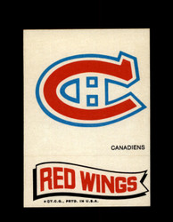 1973 TOPPS EMBLEM CANADIENS / RED WINGS *G2609