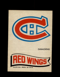 1973 TOPPS EMBLEM CANADIENS / RED WINGS *G2610