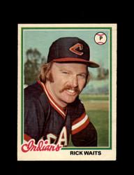 1978 RICK WAITS OPC #191 O-PEE-CHEE INDIANS *G2694