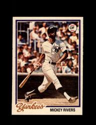 1978 MICKEY RIVERS OPC #182 O-PEE-CHEE YANKEES *G2695