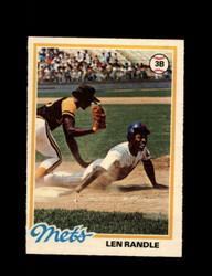 1978 LEN RANDLE OPC #132 O-PEE-CHEE METS *G2696