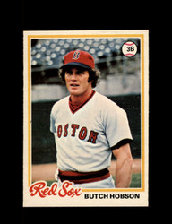 1978 BUTCH HOBSON OPC #187 O-PEE-CHEE RED SOX *G2697
