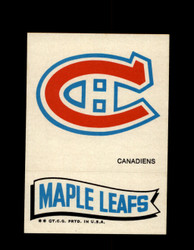 1973 TOPPS EMBLEM CANADIENS / MAPLE LEAFS *G2616