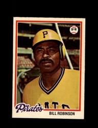 1978 BILL ROBINSON OPC #128 O-PEE-CHEE PIRATES *G2700