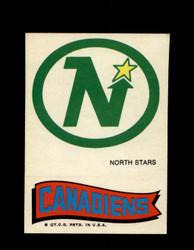 1973 TOPPS EMBLEM NORTH STARS / CANADIENS *G2617
