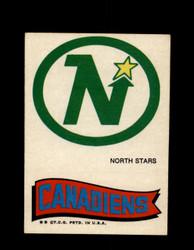 1973 TOPPS EMBLEM NORTH STARS / CANADIENS *G2618