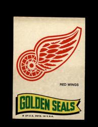 1973 TOPPS EMBLEM RED WINGS / GOLDEN SEALS *G2619