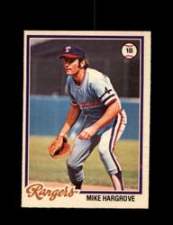 1978 MIKE HARGROVE OPC #176 O-PEE-CHEE RANGERS *G2705