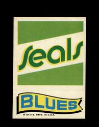 1973 TOPPS EMBLEM SEALS / BLUES *G2626