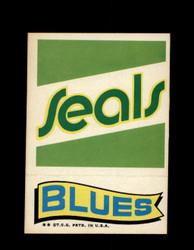1973 TOPPS EMBLEM SEALS / BLUES *G2628