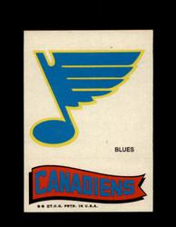 1973 TOPPS EMBLEM BLUES / CANADIENS *G2634