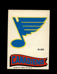 1973 TOPPS EMBLEM BLUES / CANADIENS *G2636