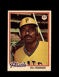 1978 BILL ROBINSON OPC #128 O-PEE-CHEE PIRATES *G2729