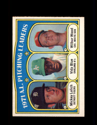 1972 A.L. PITCHING LDRS OPC #94 O-PEE-CHEE LOLICH *G2782